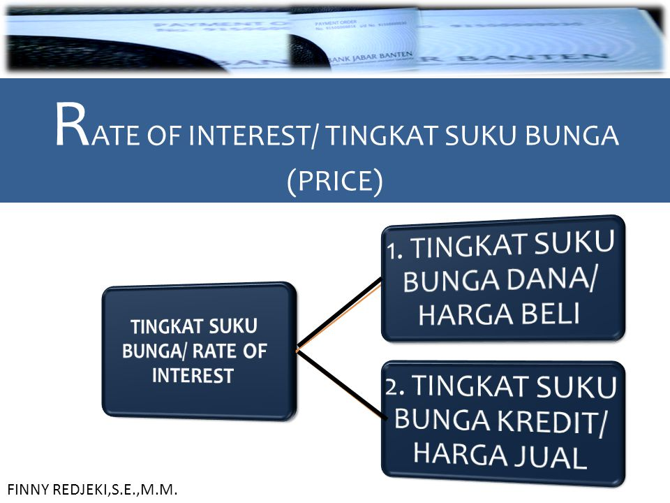 TINGKAT SUKU BUNGA/ RATE OF INTEREST