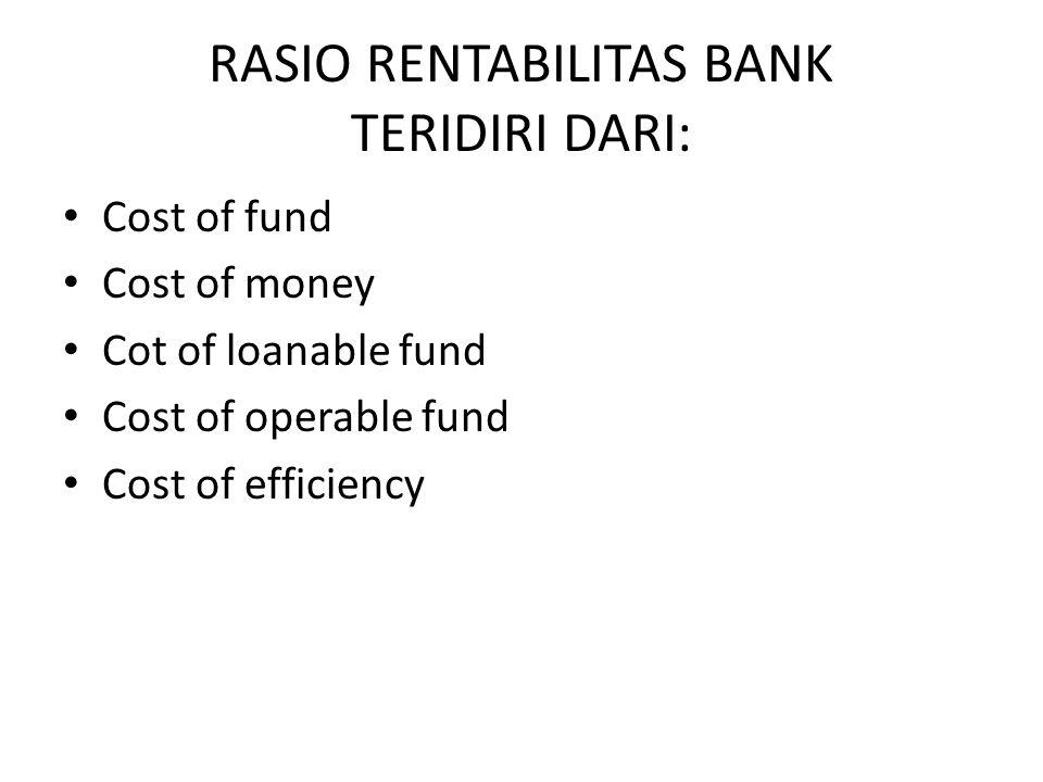 RASIO RENTABILITAS BANK TERIDIRI DARI: