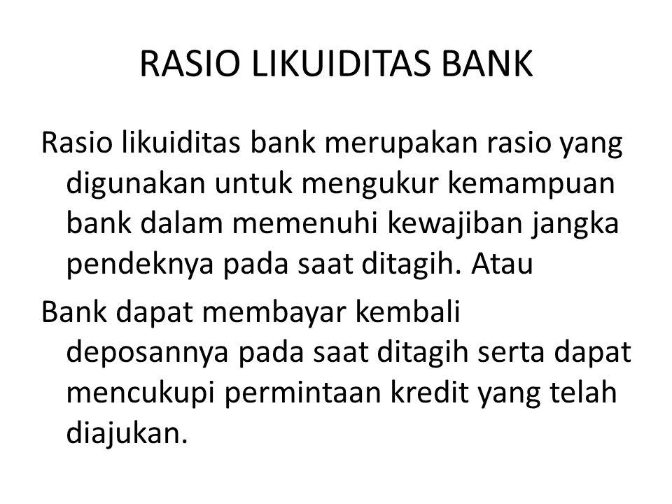 RASIO LIKUIDITAS BANK
