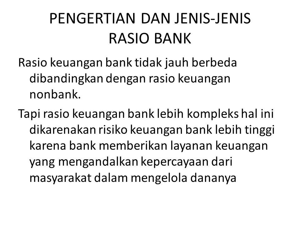 PENGERTIAN DAN JENIS-JENIS RASIO BANK