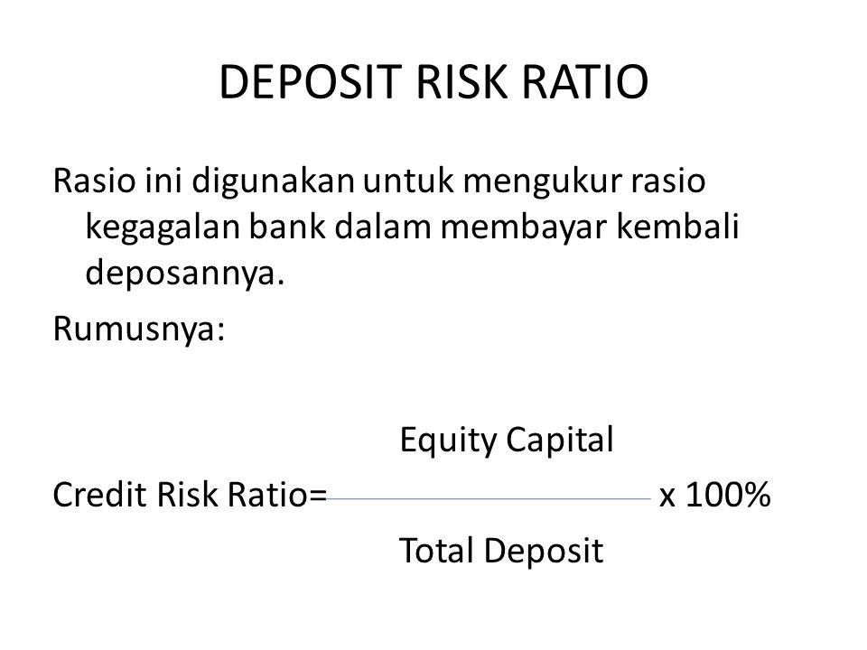 DEPOSIT RISK RATIO