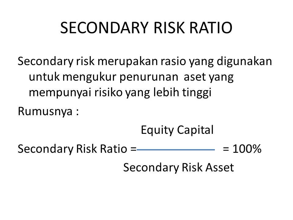 SECONDARY RISK RATIO
