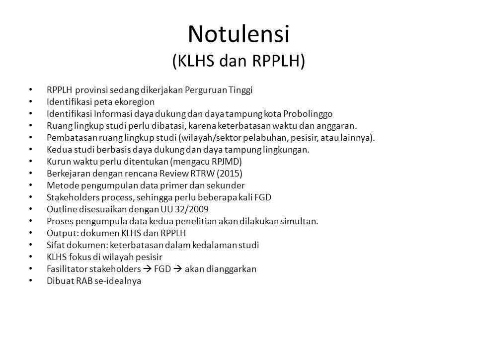 Notulensi (KLHS dan RPPLH)