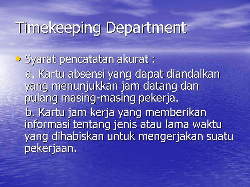 Timekeeping Department