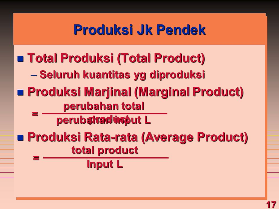 perubahan total product