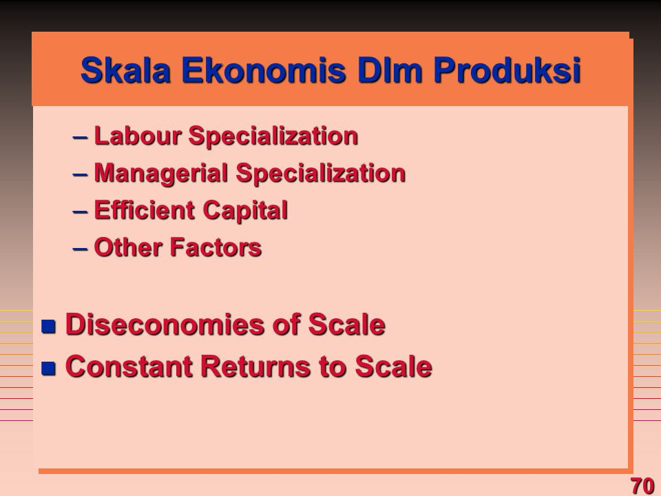 Skala Ekonomis Dlm Produksi