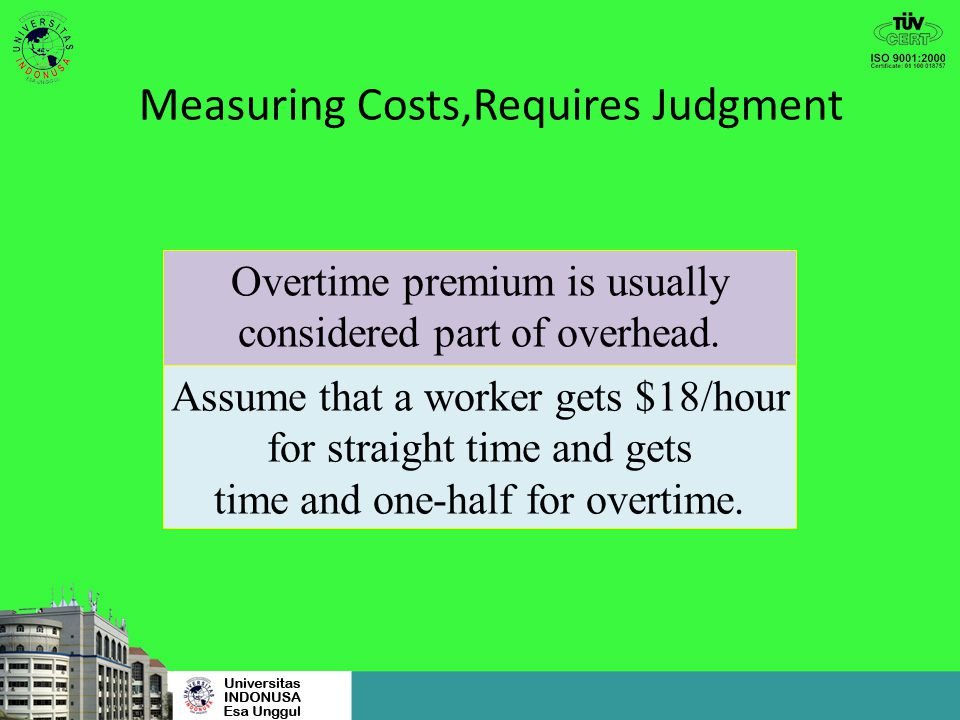 Measuring Costs,Requires Judgment