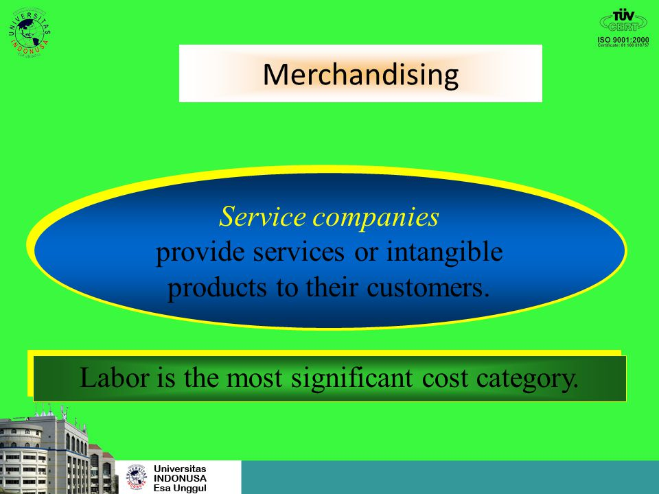Merchandising Service companies provide services or intangible
