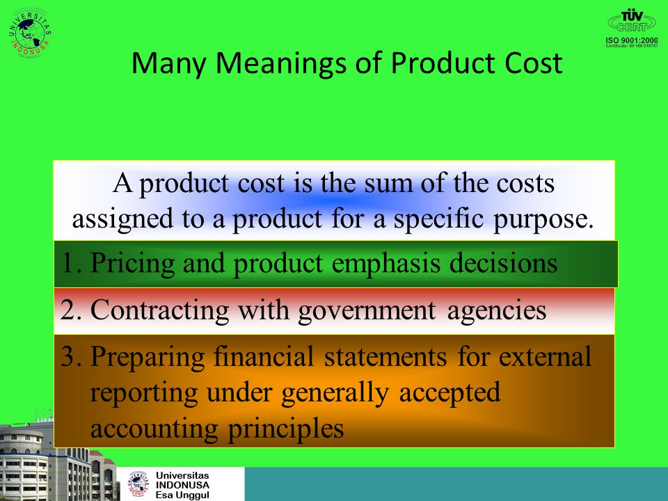 Many Meanings of Product Cost