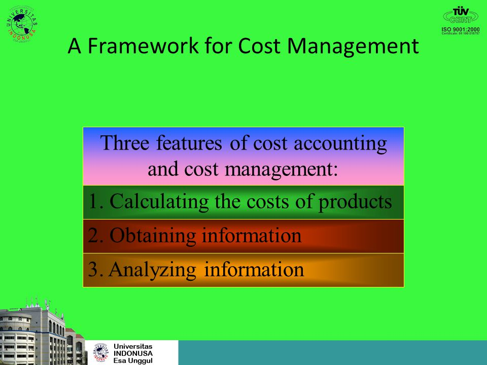 A Framework for Cost Management