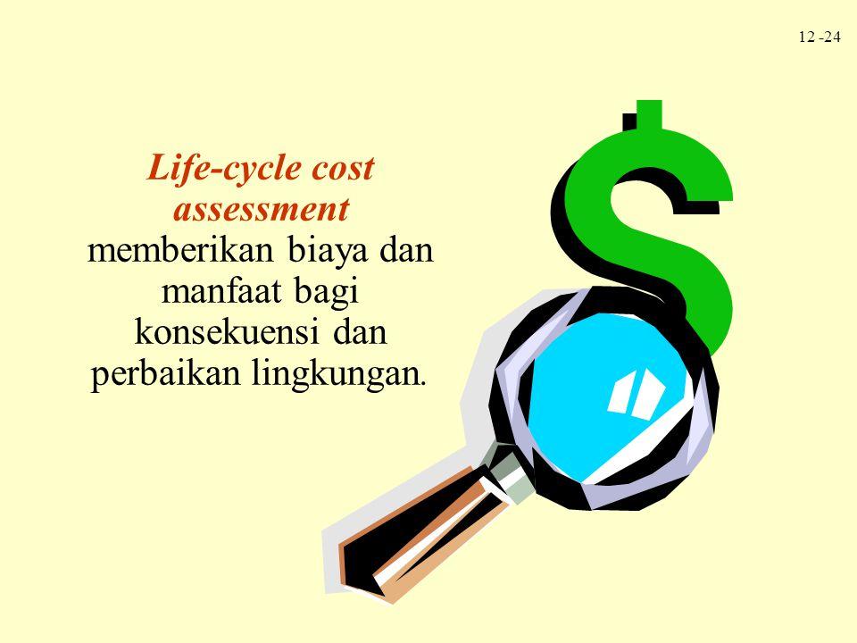 Life-cycle cost assessment memberikan biaya dan manfaat bagi konsekuensi dan perbaikan lingkungan.