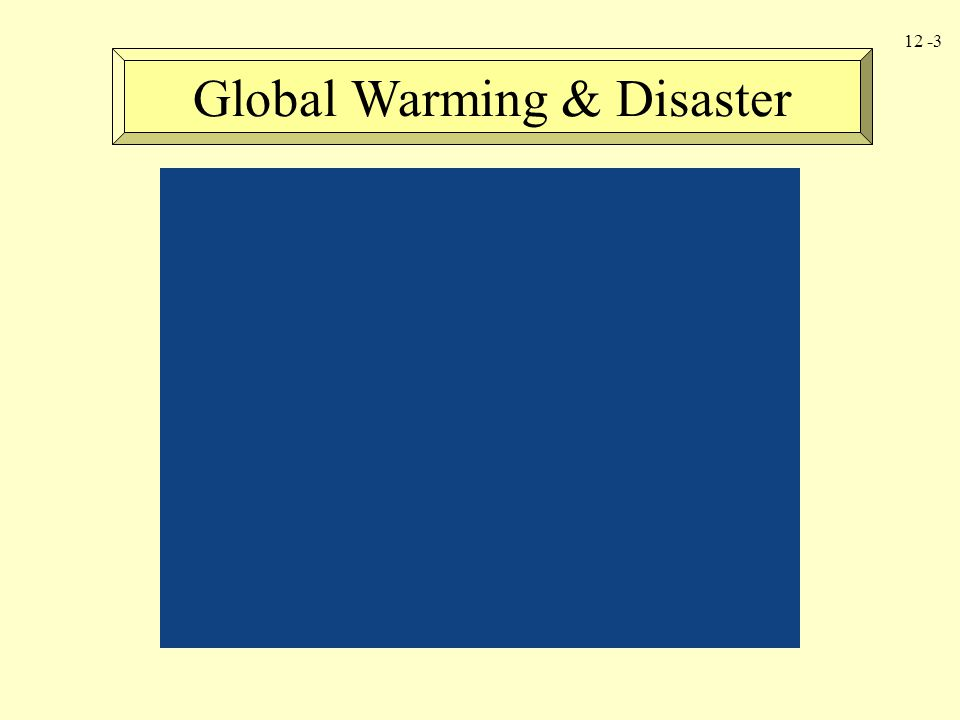 Global Warming & Disaster
