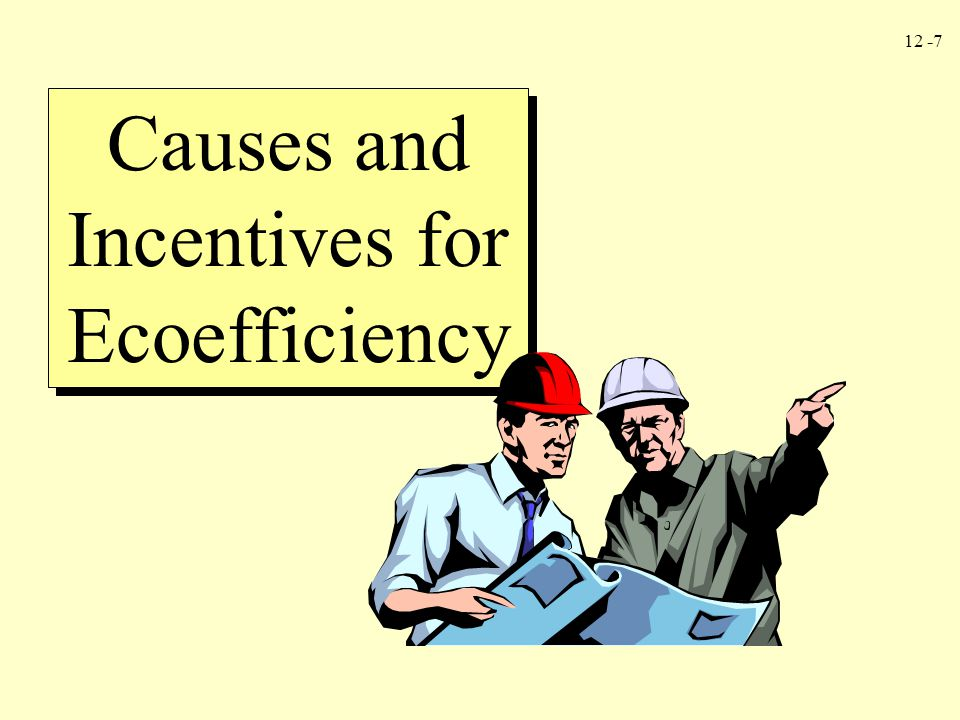 Causes and Incentives for Ecoefficiency
