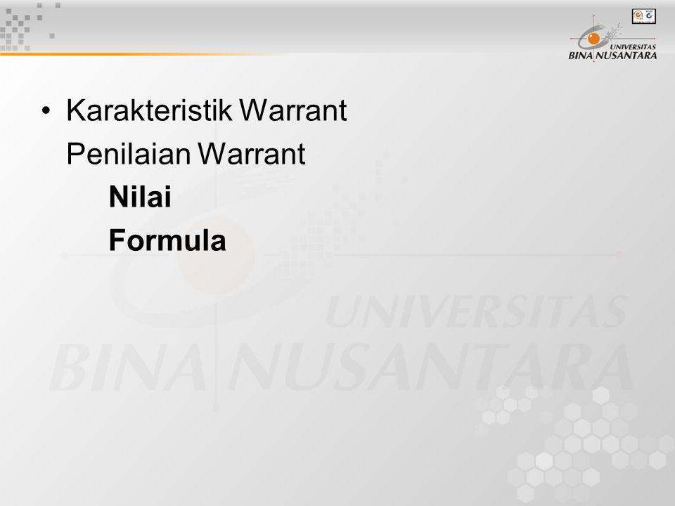 Karakteristik Warrant