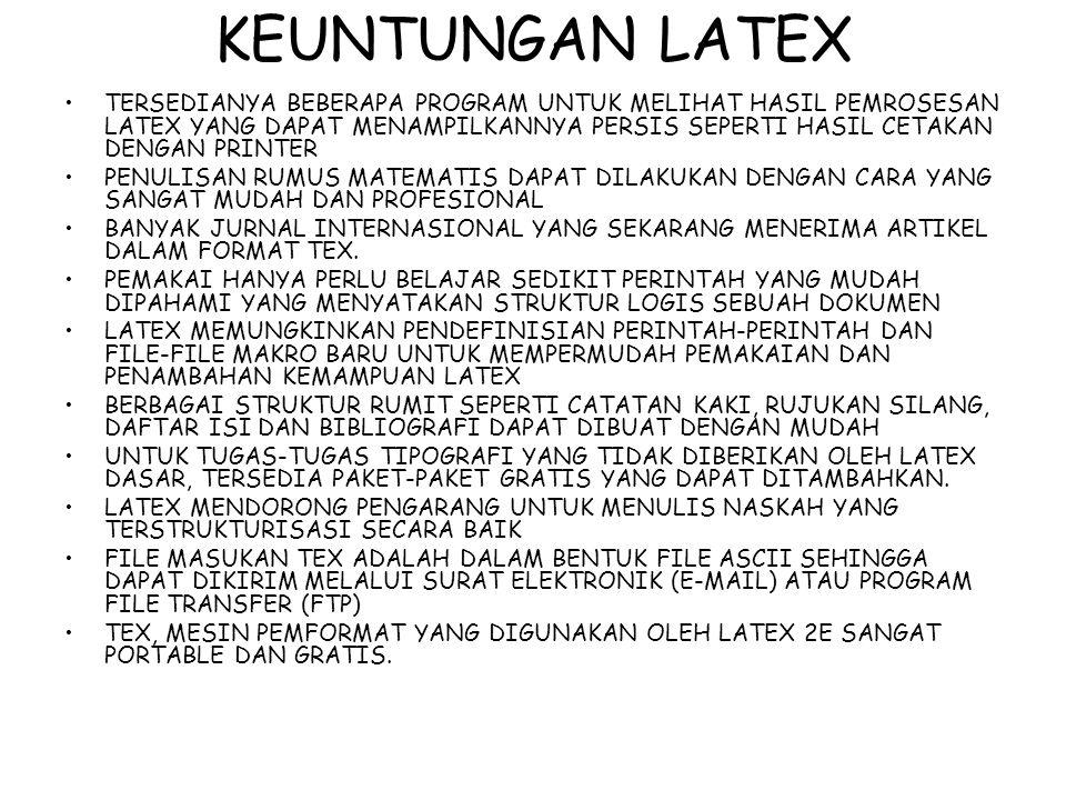 KEUNTUNGAN LATEX