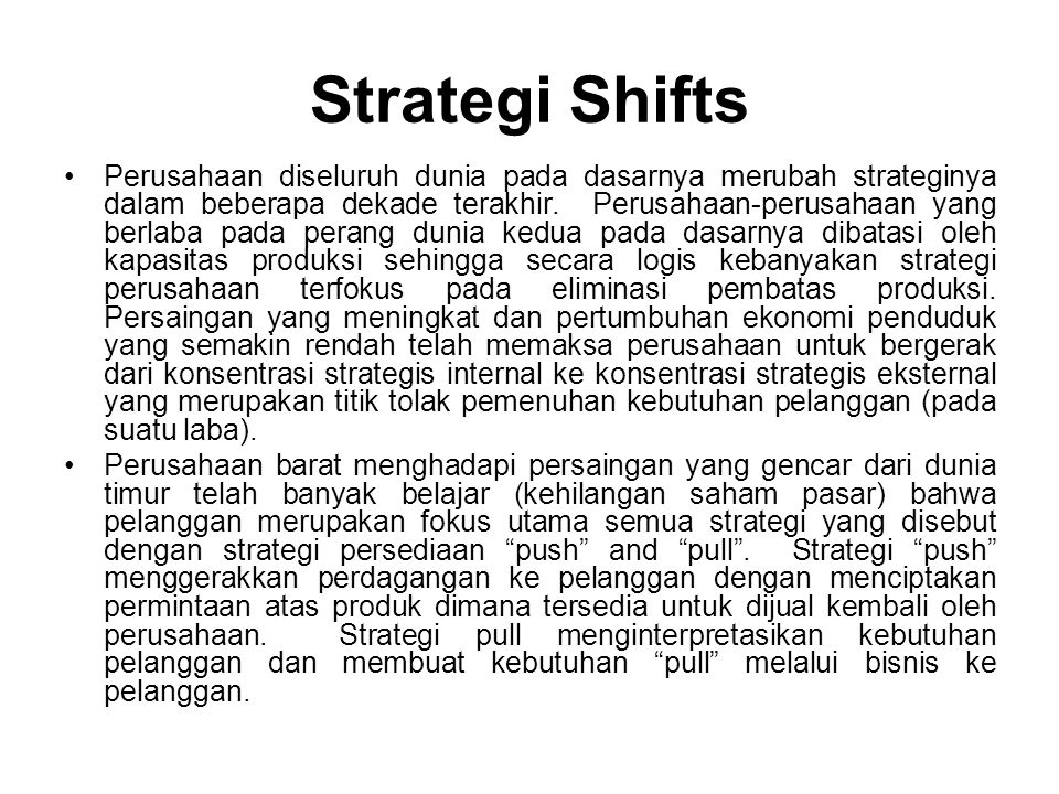 Strategi Shifts