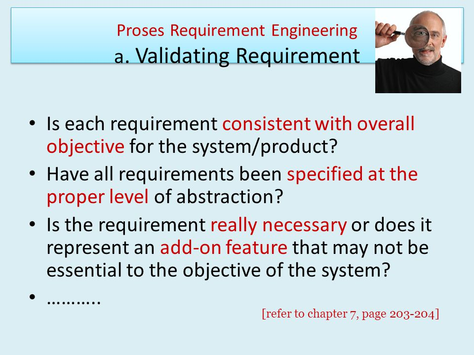 Proses Requirement Engineering a. Validating Requirement