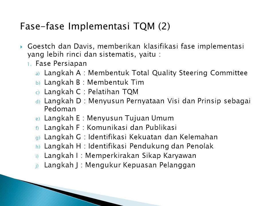 Fase-fase Implementasi TQM (2)