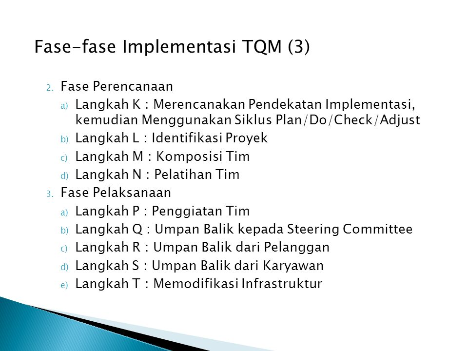 Fase-fase Implementasi TQM (3)