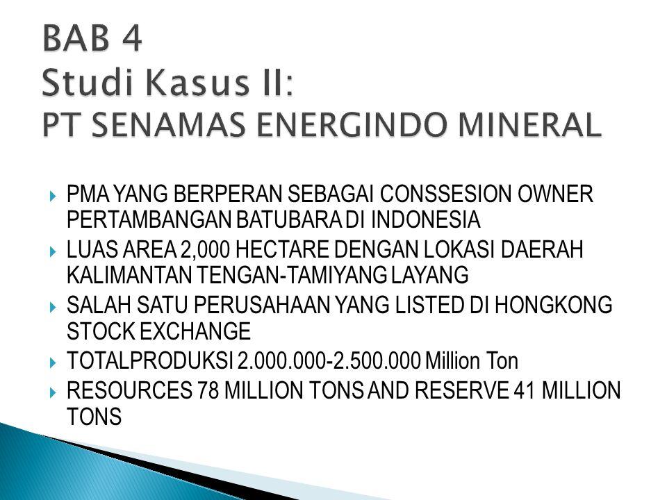 BAB 4 Studi Kasus II: PT SENAMAS ENERGINDO MINERAL