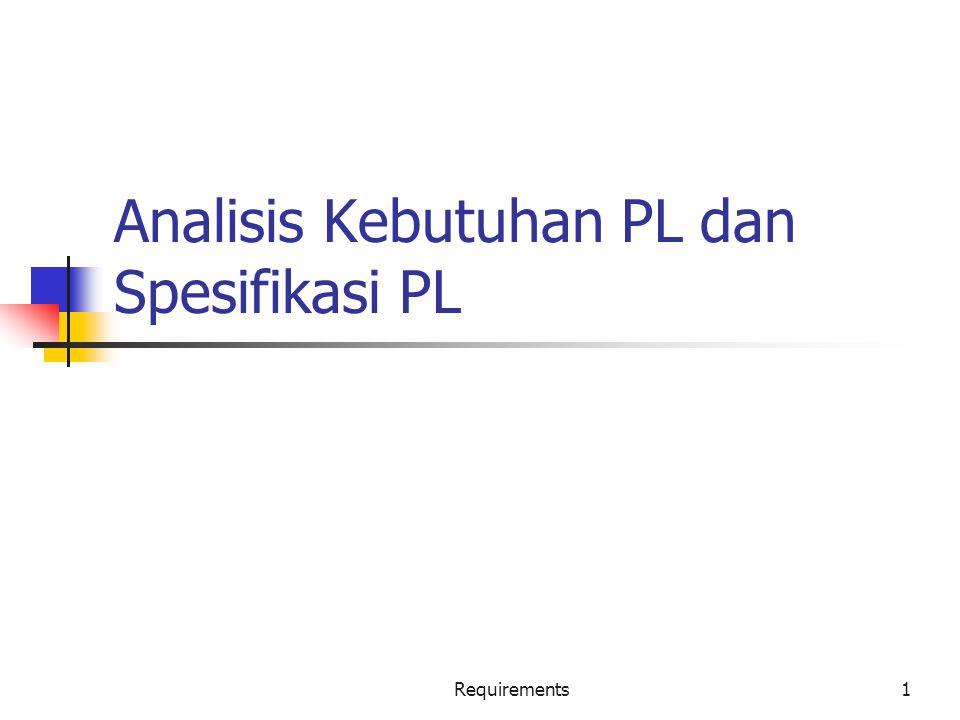 Analisis Kebutuhan PL dan Spesifikasi PL