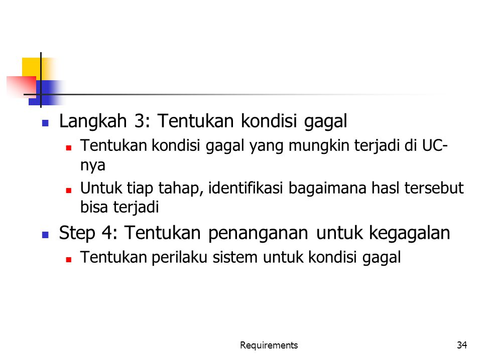 Langkah 3: Tentukan kondisi gagal