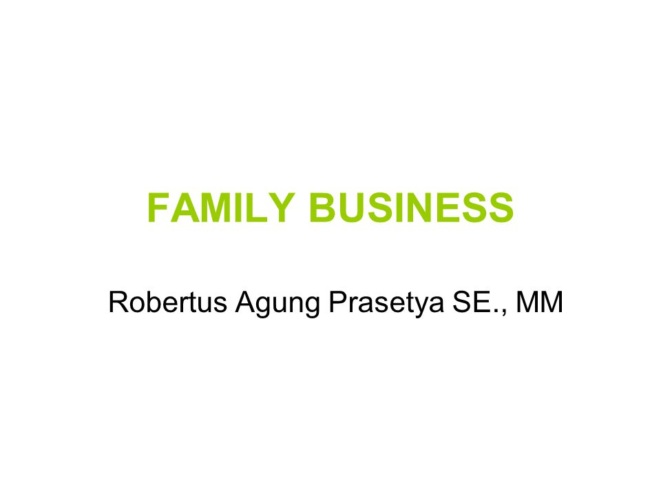 Robertus Agung Prasetya SE., MM