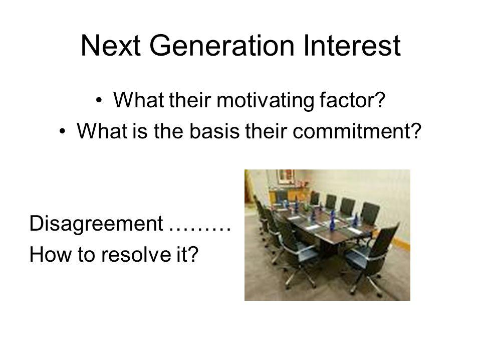 Next Generation Interest