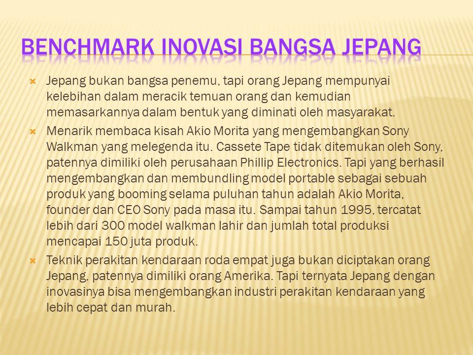 Benchmark Inovasi Bangsa Jepang