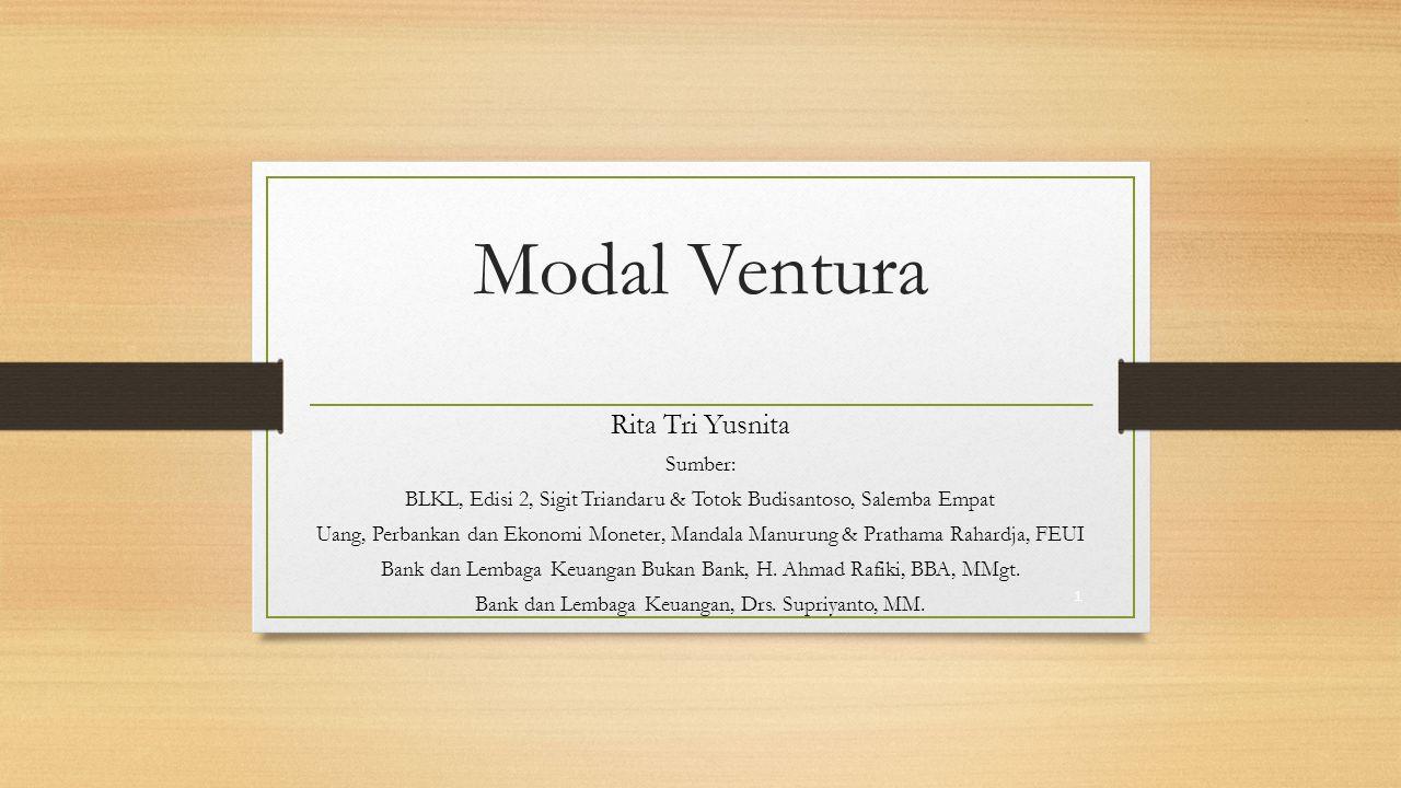 Modal Ventura Rita Tri Yusnita Sumber: