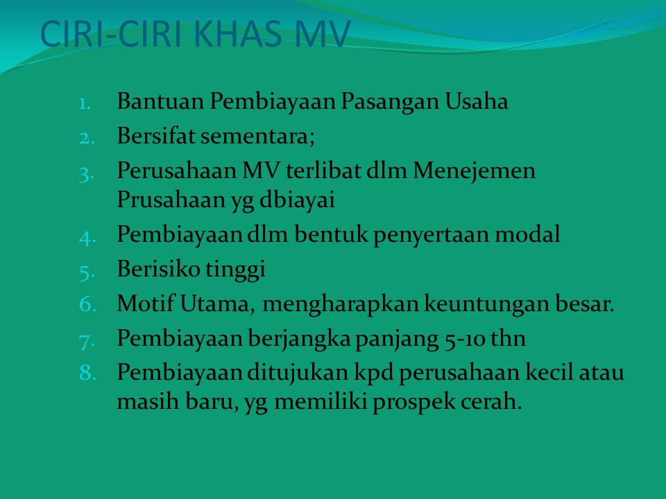 CIRI-CIRI KHAS MV Bantuan Pembiayaan Pasangan Usaha