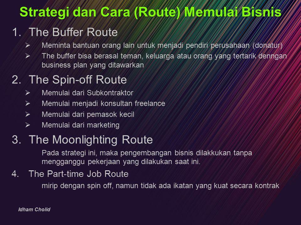 Strategi dan Cara (Route) Memulai Bisnis