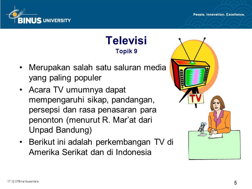 Televisi Topik 9 Merupakan salah satu saluran media yang paling populer.