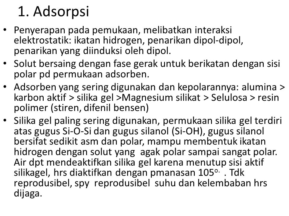 1. Adsorpsi