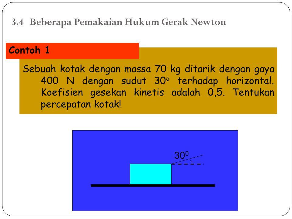 3.4 Beberapa Pemakaian Hukum Gerak Newton