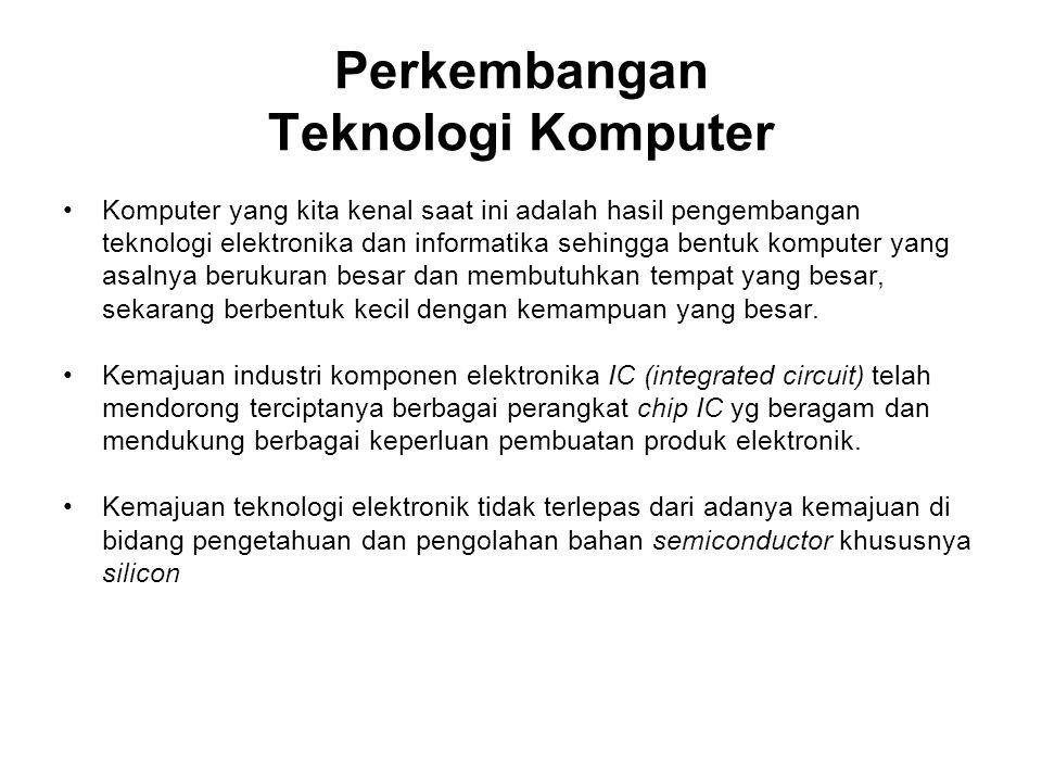 Perkembangan Teknologi Komputer