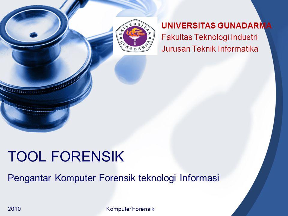 Pengantar Komputer Forensik teknologi Informasi