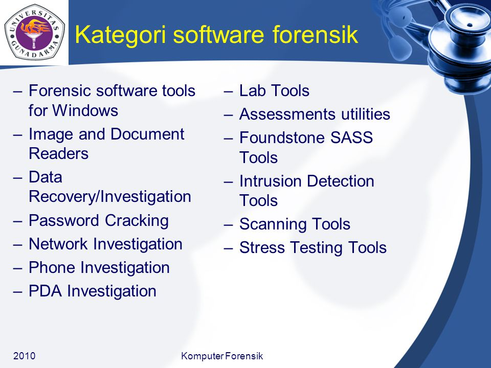 Kategori software forensik