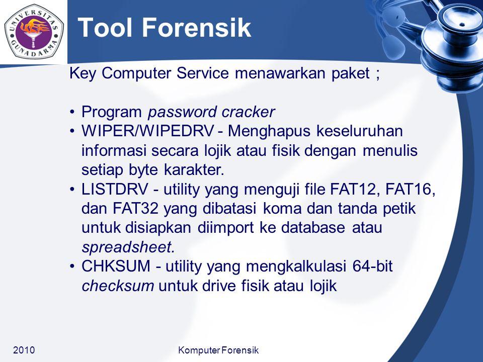 Tool Forensik Key Computer Service menawarkan paket ;