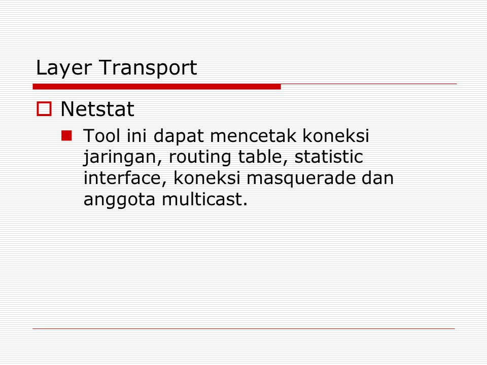 Layer Transport Netstat