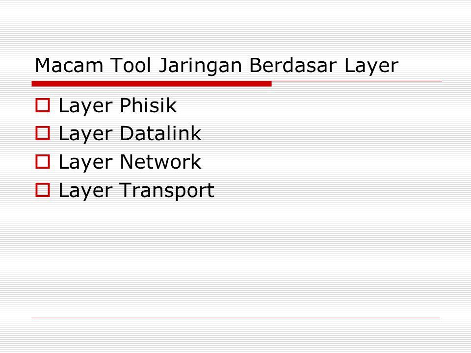 Macam Tool Jaringan Berdasar Layer