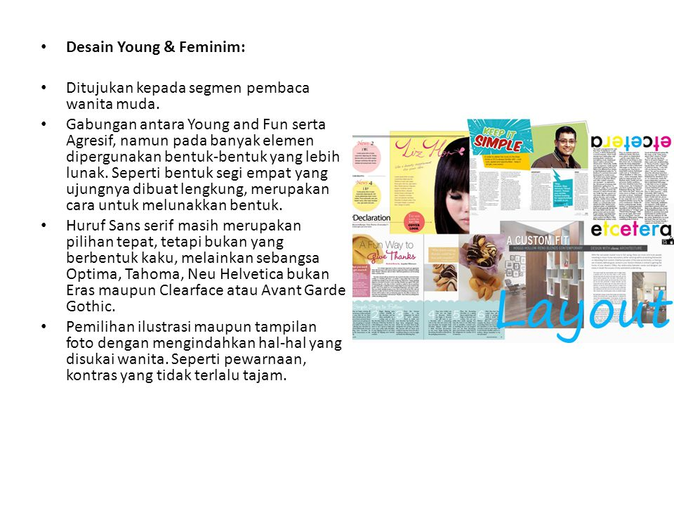 Desain Young & Feminim: