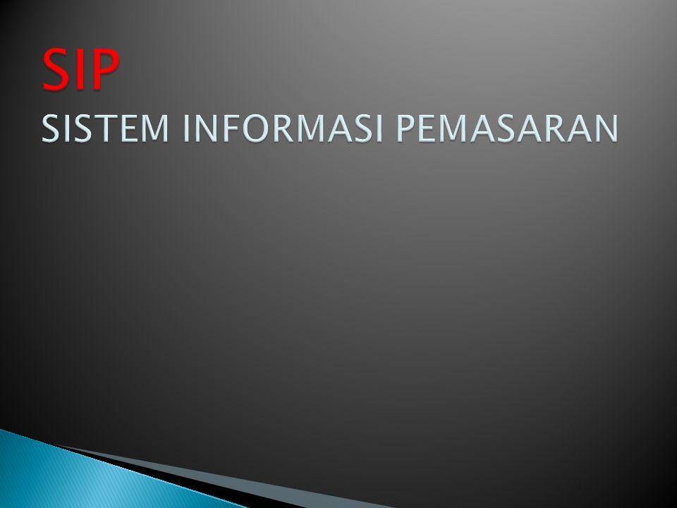 SIP SISTEM INFORMASI PEMASARAN