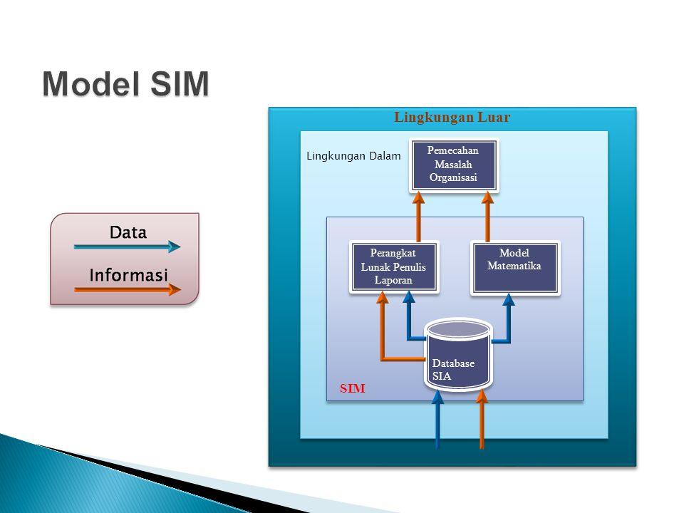 Model SIM Lingkungan Luar SIM Pemecahan Masalah Organisasi