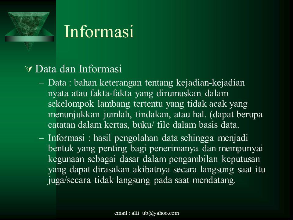 Informasi Data dan Informasi
