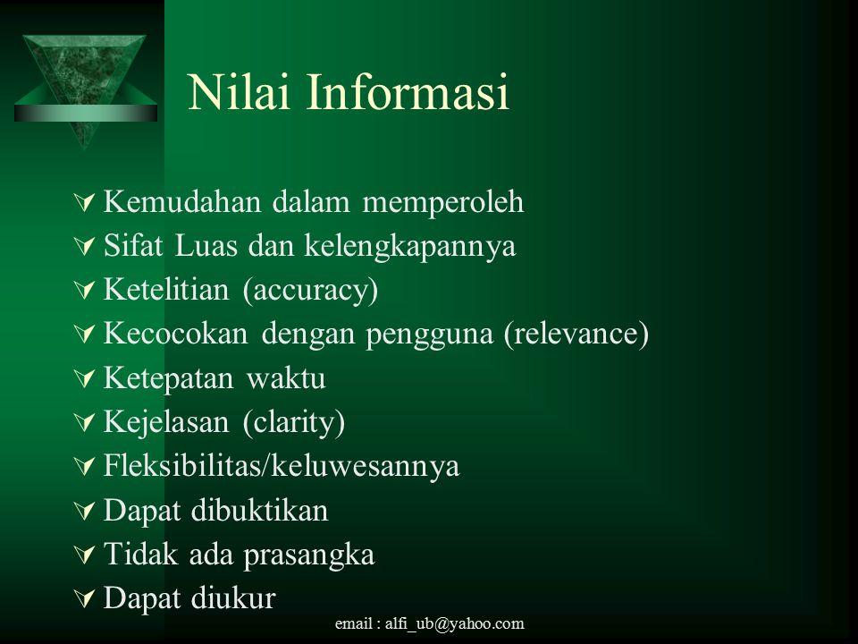 Nilai Informasi Kemudahan dalam memperoleh