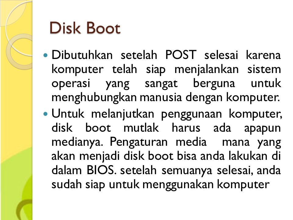 Disk Boot