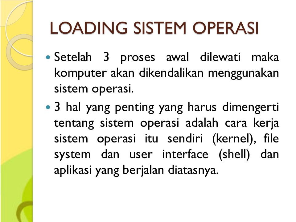 LOADING SISTEM OPERASI
