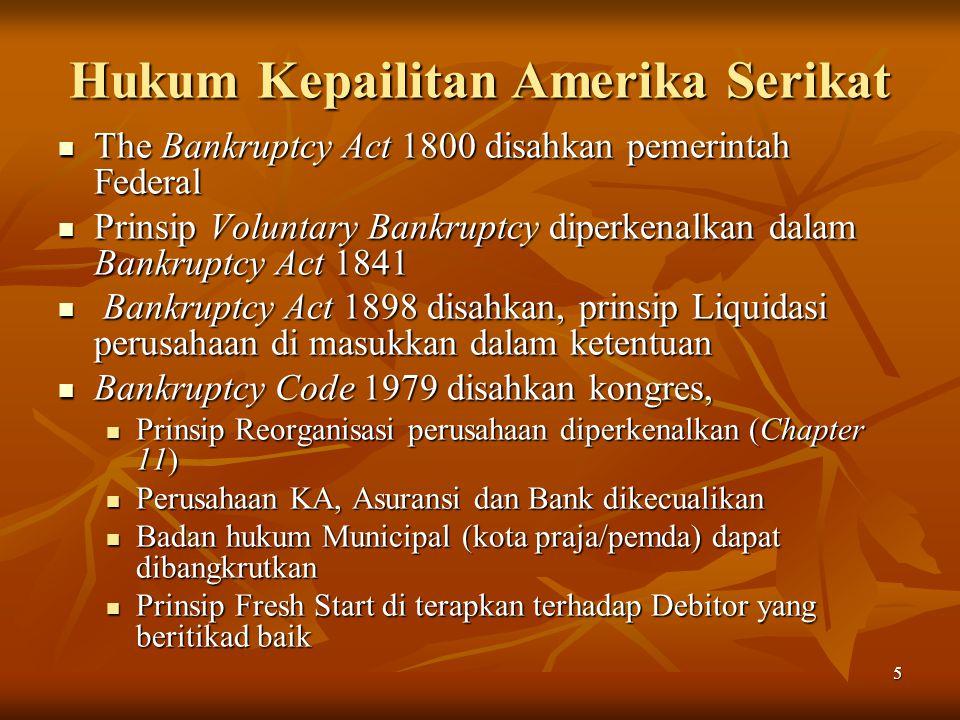 Hukum Kepailitan Amerika Serikat