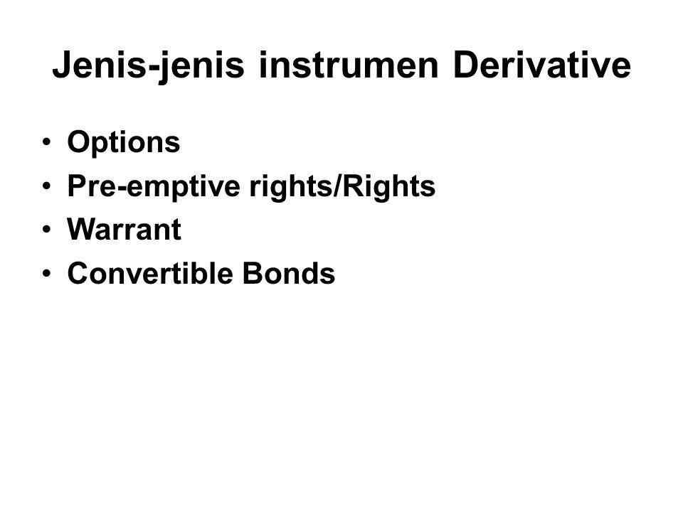 Jenis-jenis instrumen Derivative